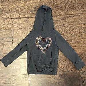 3T Cat & Jack Music Heart Dark Gray Hoodie